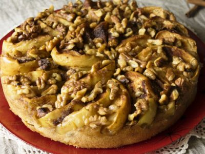 apple walnut cake from The Jewish Kitchen