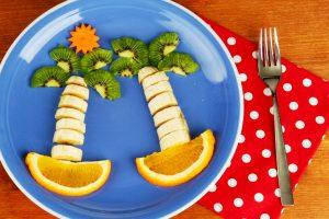 banana trees fruit plate