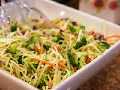 broccoli slaw from The Jewish Kitchen