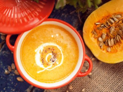 butternut squash soup from The Jewish Kitchen