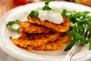 carrot latkes from The Jewish Kitchen