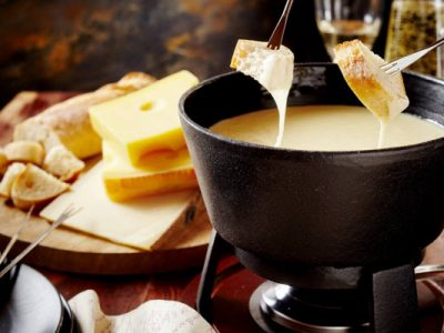 cheese fondue from The Jewish Kitchen