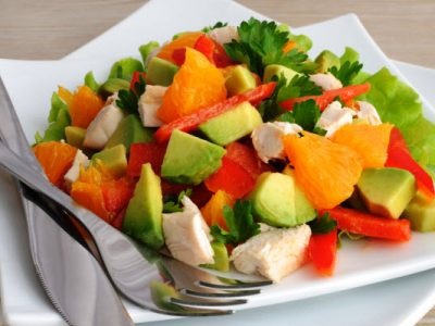chicken salad with avacado from The Jewish Kitchen