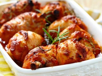 chicken with ketchup glaze