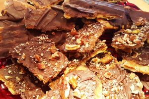 chocolate caramel matzoh from the Jewish Kitchen