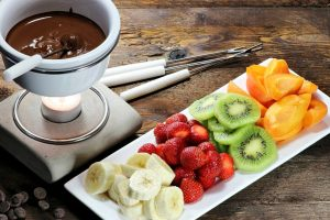 chocolate fondue from The Jewish Kitchen