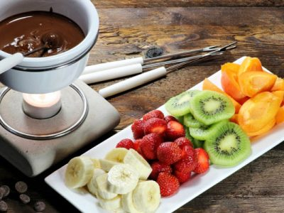 chocolate fondue from The Jewish Kitchen