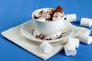 homemade hot cocoa with marshmallows