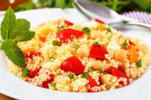 couscous and chick pea salad from The Jewish Kitchen