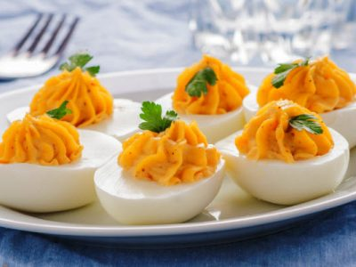deviled eggs from The Jewish Kitchen