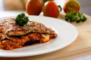 Kosher eggplant parmesan