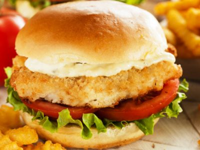 fried fish sandwich from The Jewish Kitchen