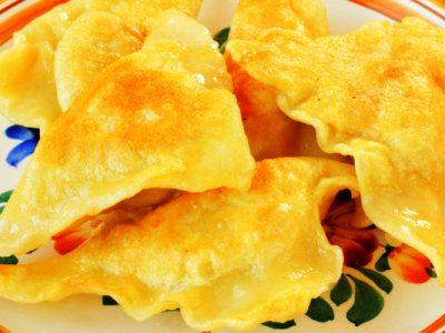 fried kreplach from The Jewish Kitchen