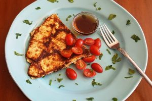 fried matzoh brie pancakes from The Jewish Kitchen