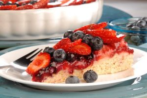 fruit flan with fresh berries from The Jewish Kitchen