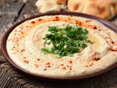 easy classic hummus from The Jewish Kitchen