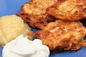 traditional potato latkes from The Jewish Kitchen
