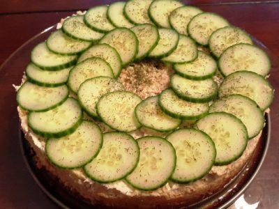layered gefilte fish torte from The Jewish Kitchen