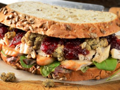 leftover Thanksgiving sandwich from The Jewish Kitchen
