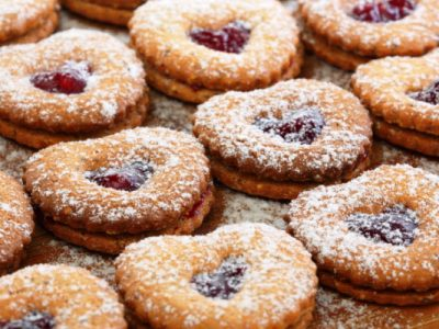 aunt alice's linzer cookies from The Jewish Kitchen