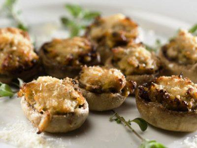 kosher cheesy stuffed mushrooms