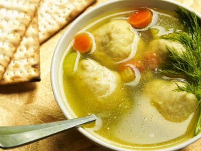 mom's kosher matzoh ball soup from The Jewish Kitchen