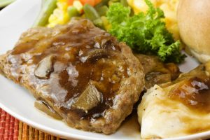meatloaf with mushroom gravy from The Jewish Kitchen
