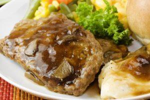 meatloaf with mushroom gravy1