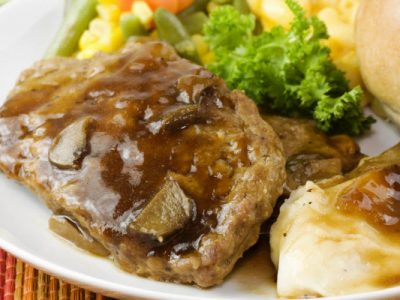 meatloaf with mushroom gravy1