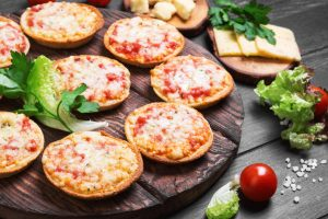 mini pizza appetizers from The Jewish Kitchen