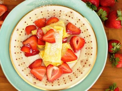 mom's baked blintzes from The Jewish Kitchen