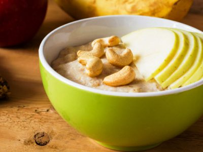 nutty oatmeal and apples