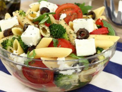 pasta with tomatoes and feta