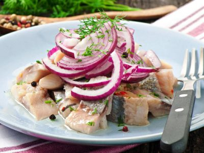 chopped pickled herring