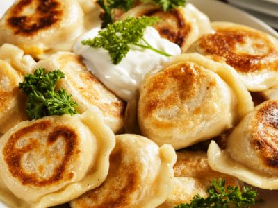 potato and onion pierogies from The Jewish Kitchen