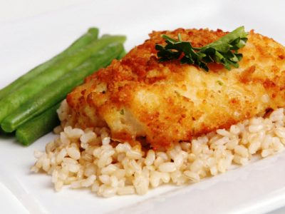 fish with potato crust