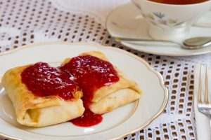 cheese blintzes from The Jewish Kitchen