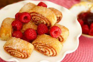raspberry rugelach