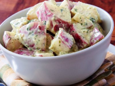 hearty potato salad from The jewish Kitchen