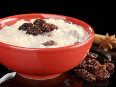 rice pudding with raisins