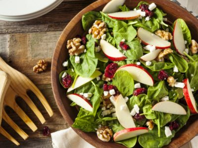 salad with fruits nuts and cheese