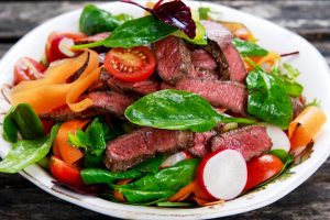 steak salad from The Jewish Kitchen