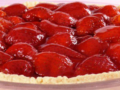 fresh strawberry pie from The Jewish Kitchen