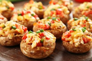 classic stuffed mushrooms from The Jewish Kitchen