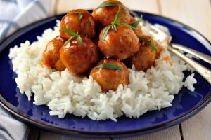 sweet and sour meatballs from The Jewish Kitchen