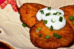 perfect sweet potato latkes from the Jewish Kitchen