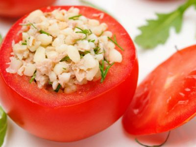 tuna stuffed tomatoes from The Jewish Kitchen