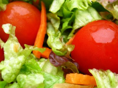 tossed salad with red wine vinaigrette