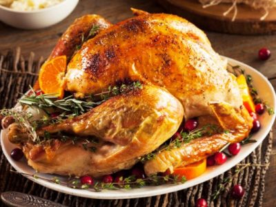 classic roast turkey with gravy