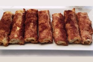 white bread cheese blintzes